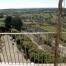 La terrassa amb vistes sobre la Segarra i els cultius.