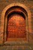 La porta de l'església. Borredà.