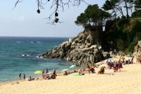 La platja Cala Gogó o Ses Torretes  al Càmping Cala Gogo