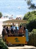 Trenet o 'Gua Gua' que et porta des de les piscines a la platja, sense sortir del càmping (Aprox. 15 Jun a 11 Set.)