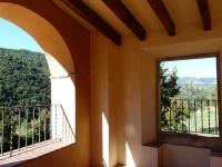 Vista de la vall des de la galeria porticada