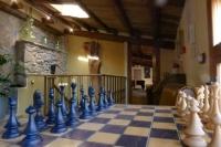 Tauler d'escacs a la sala de jocs