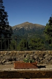 Vista del Puigllançada des de la terrassa