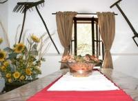 taula del menjador de la casa rural