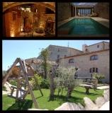 Vistes multiples de Cal Senyoret. Piscina, pati interior i jardi.