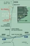 ubicació de l'alberg rural el Polell