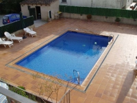 La piscina de 40 m2, tractament de l'aigua amb sal, sense utilizar productes químics.