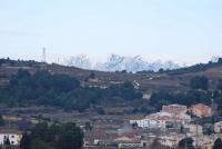 Montserrat des de Subirats a la sortida del sol