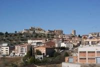 Castell d'Òdena des de l'ermita de Sant Miquel.