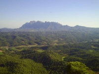 Vista des del punt més alt del terme de St. Salvador de Guardiola (La Pòpia del Mongrós)