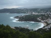 Llafranc vist des del Far de Sant Sebastia. Una tarda de tormenta.