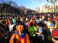 Una de les moltes activitats: la marato de barcelona 2014