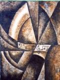 Una pintura más de E. Amills Sisó  (de entre las muchas),  que la Fábrica Nacional de Moneda y Timbre  (FNMT).  Ha tenido a bien estampar en sellos de las serie  'A'