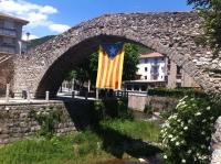 El pont vell de la Pobla de Lillet