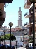 Campanar de Sant Joan, vist des el carrer Abat Llort.