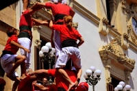 Diada castellera a Vilafranca del Penedes, dia 30 d'Agost.