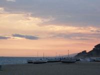 La posta de sol a la platja