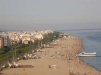 Panoramica de la platja de Calella