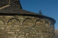 Detall de l'Església de Sant Cosme i Sant Damià de Queixans