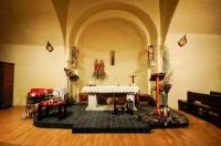 Altar central de l'Església de Sant Cosme i Sant Damià de Queixans
