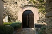 Porta d'entrada de l'Església de Santa Eulàlia d'Estoll
