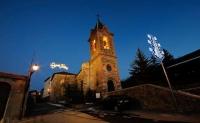 Vistes de l'Església de Sant Martí d'Urtx a la nit