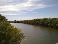 el riu La Muga al seu pas per Empuriabrava