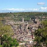 Vista del poble de Guimerà, l'Urgell, Lleida.