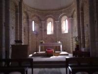 altar central de l'interior de l'Església de Sant Miquel. Ens va deixar entrar una veina del poble que se'n cuida.