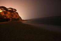 Cala de Sant Pol de mar amb les últimes llums del dia.