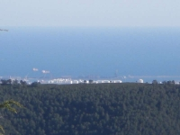 tarragona i els barcos del port .