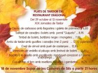 llista de plats de tardor fins el 13 de novembre